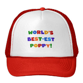 Bright Colors World's Best-est Poppy Gifts Mesh Hats