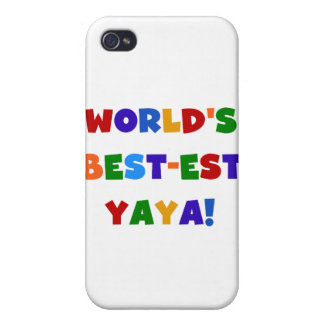 Bright Colors World's Best-est Yaya Gifts Cover For iPhone 4