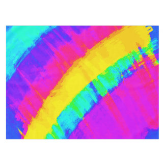 Bright Colourful Abstract Brushstroke Rainbow Tablecloth
