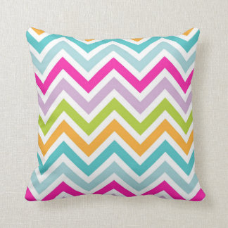 Bright & Colourful Chevron Pattern Throw Pillow