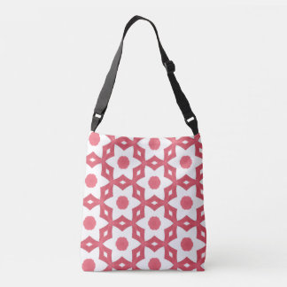Bright Colourful Construction Paper Geometric Art Crossbody Bag