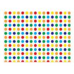 Bright Colourful Fun Polka Dots Girly Pattern Postcard