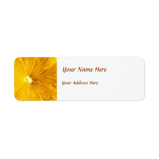 Bright Colourful Lemon Close Up Return Address Label