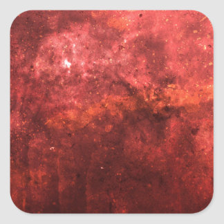 Bright colourful red abstract grunge awesome bg square sticker