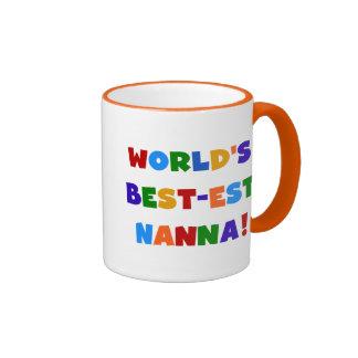 Bright Colours Best-est Nanna Tshirts Ringer Mug
