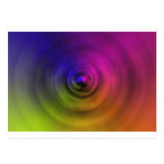 Bright colours of spiral blur as an abstract post card