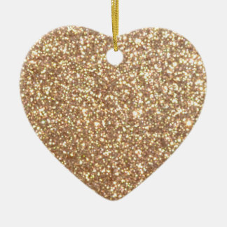 Bright Copper Glitter Sparkles Ceramic Ornament