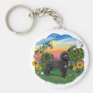 Bright Country - Black Portie (PWD) standing Key Ring
