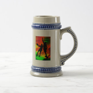 Bright Court Lights and Basketball Duo Mugs