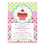 Bright Cupcake 1st Birthday Party Invitation 13 Cm X 18 Cm Invitation Card