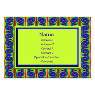 bright curls abstract pack of chubby business cards