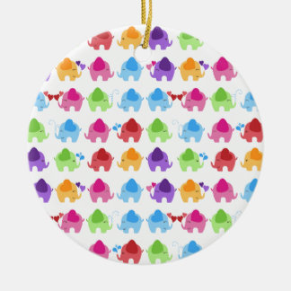 bright cute baby elephant design ceramic ornament