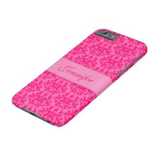 Bright damask hot pink custom iphone case