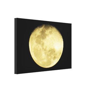 Bright Detailed Moon Canvas Print