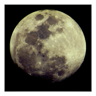 Bright Detailed Moon Poster