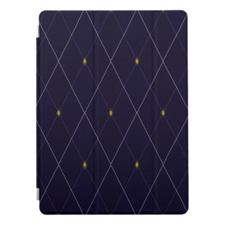 "Bright Diamond Navy Argyle 12.9"" iPad Pro Cover"