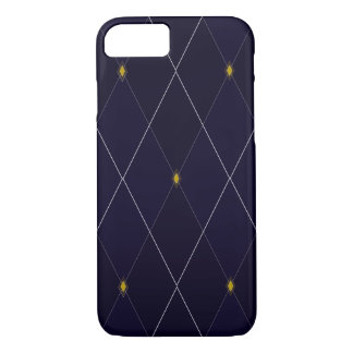 Bright Diamond Navy Argyle iPhone 8/7 Case