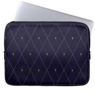 Bright Diamond Navy Argyle Laptop Sleeve