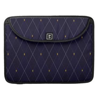 Bright Diamond Navy Argyle MacBook Pro Sleeves