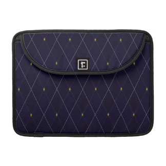 Bright Diamond Navy Argyle Sleeve For MacBooks