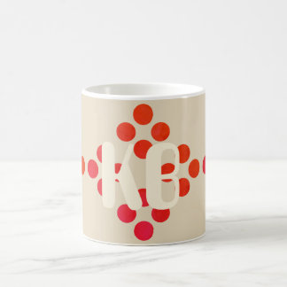 Bright Diamond Shape Add Initials Beige Mug