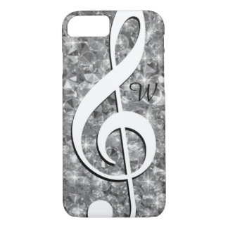 bright diamonds and treble clef iPhone 7 case