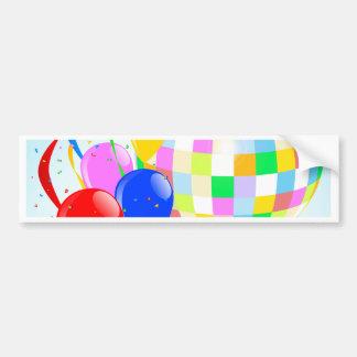 Bright Disco Ball Bumper Sticker
