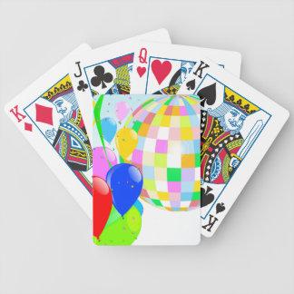 Bright Disco Ball Poker Deck