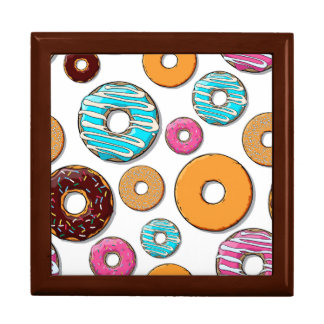 Bright Donut Whimsical Pattern Gift Box