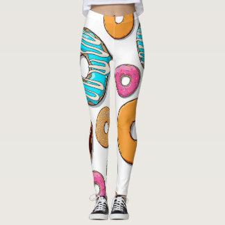 Bright Donut Whimsical Pattern Leggings