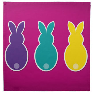 Bright Easter Bunny Silhouette Napkin
