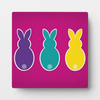 Bright Easter Bunny Silhouette Plaque
