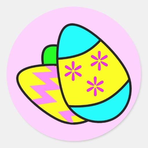 Bright Easter Eggs Sticker