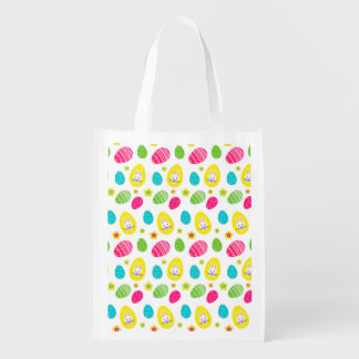 Bright Easter Pattern with Bunny and eggs