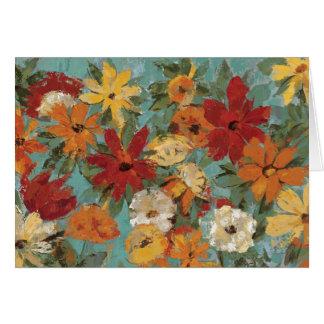 Bright Expressive Garden Greeting Card