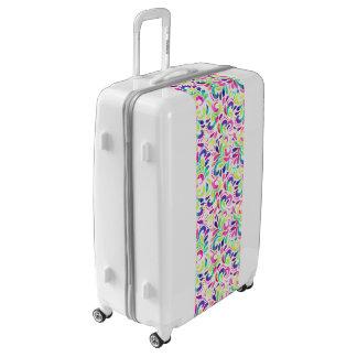 Bright extravaganza festive carnival color burst luggage