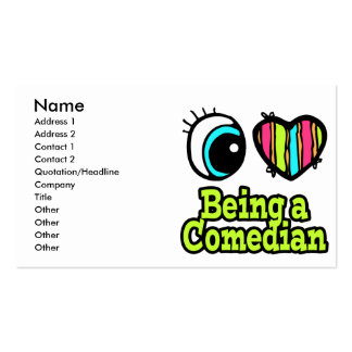Bright Eye Heart I Love Being a Comedian Double-Sided Standard Business Cards (Pack Of 100)