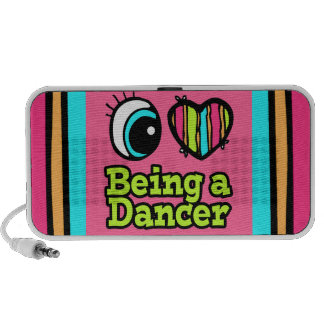 Bright Eye Heart I Love Being a Dancer Travelling Speakers