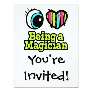 Bright Eye Heart I Love Being a Magician Custom Invite