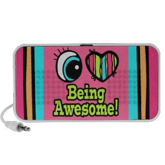 Bright Eye Heart I Love Being Awesome Portable Speaker