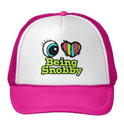 Bright Eye Heart I Love Being Snobby Mesh Hat