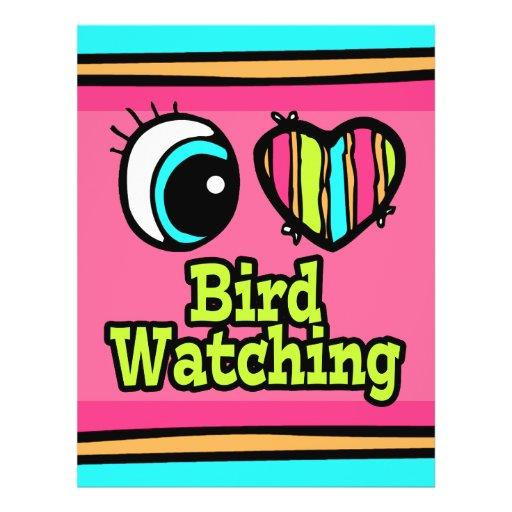 Bright Eye Heart I Love Bird Watching Flyer