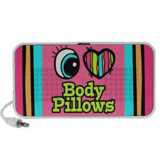 Bright Eye Heart I Love Body Pillows iPhone Speakers