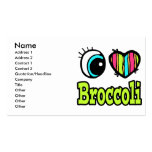 Bright Eye Heart I Love Broccoli Business Cards