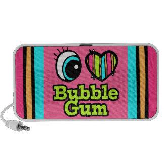 Bright Eye Heart I Love Bubble Gum Portable Speaker