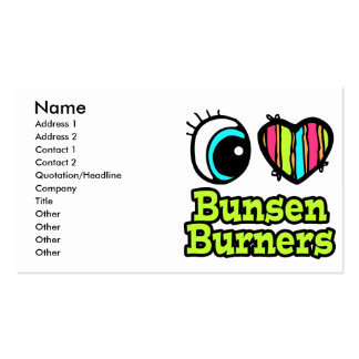 Bright Eye Heart I Love Bunsen Burners Pack Of Standard Business Cards