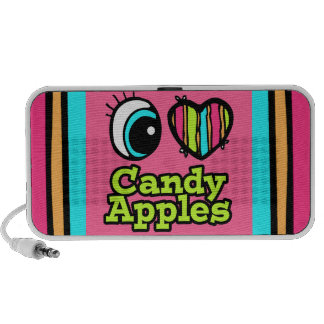 Bright Eye Heart I Love Candy Apples Laptop Speakers