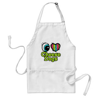 Bright Eye Heart I Love Cheese Dogs Aprons