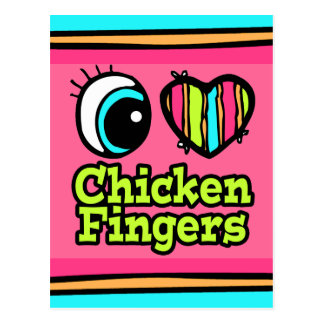 Bright Eye Heart I Love Chicken Fingers Postcard