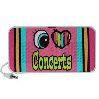 Bright Eye Heart I Love Concerts iPod Speakers